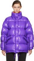 Moncler Purple Oversized Down Callis Jacket