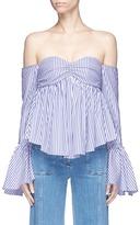 Caroline Constas 'Max' stripe poplin off-shoulder bustier top