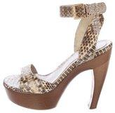 Alexander McQueen Python Platform Sandals