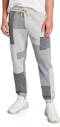Dune Ovadia Men's Patchwork-Knit Sweatpants