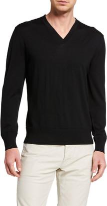 Tom Ford Men's Fine-Gauge Merino V-Neck Sweater