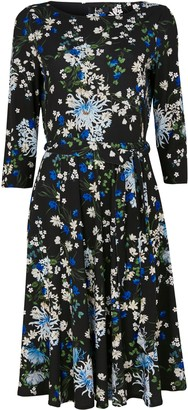 Wallis Blue Floral Fit and Flare Dress