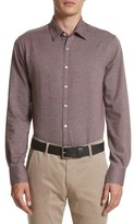 Canali Men's Slim Fit Houndstooth Sport Shirt