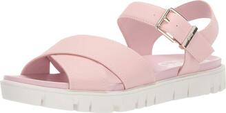 Sam Edelman Women's Narcissa Flat Sandal Heirloom Rose Super Buck 8.5 M US