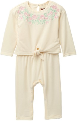 7 For All Mankind Embroidered Popover Coverall (Baby Girls)