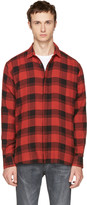 Saint Laurent Red & Black Check Shirt