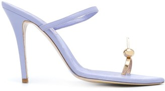 Natasha Zinko Single-Toe Strap Stiletto Sandals