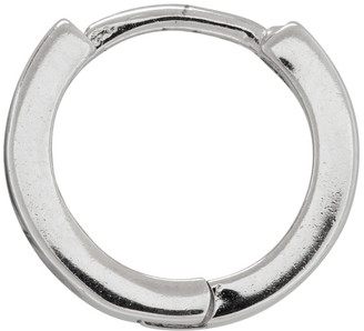 WWW.WILLSHOTT Silver Single Huggie Earring