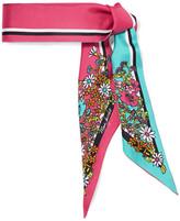 Marc Jacobs Printed Silk-twill Scarf - Fuchsia