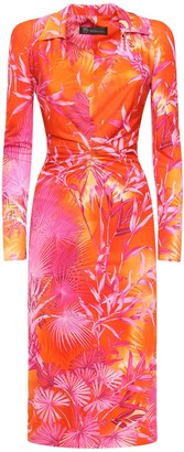 Versace Tie Dye Crepe Viscose Dress