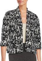 Nipon Boutique Printed Open-Front Blazer