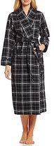 Sleep Sense Plaid Flannel Wrap Robe