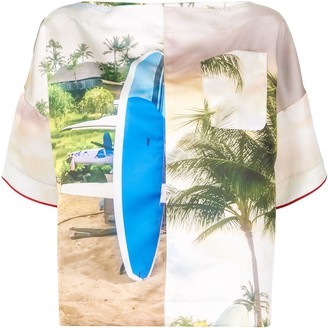 No.21 surf-print T-shirt