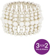 Very Pearl Embellished Stretch Bracelet