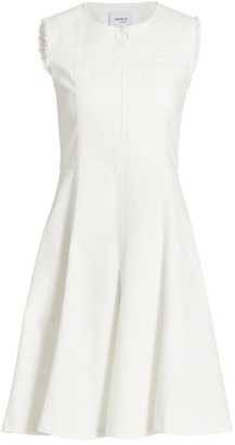 Akris Punto Sleeveless Denim A-Line Dress