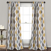 Lush Decor 2-pack Mid Century Geo Room Darkening Window Curtains