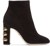 Dolce & Gabbana Black Suede Military Boots