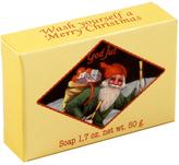 Victoria Swedish Christmas Soap - Santa with Gifts by 1.7oz Soap Bar)