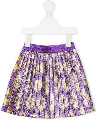 Gucci Kids metallic pleated skirt