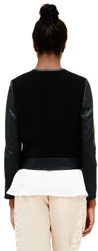 Club Monaco Dee Perforated Soft Bomber