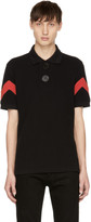 Givenchy Black & Red Oversized Polo