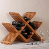 Seville Classics Classic Lines 24.75 in. W Wine Rack in Bamboo