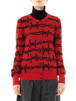 Vivienne Westwood Barbed wire intarsia-knit cardigan