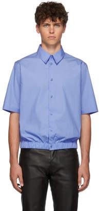 Martine Rose Blue Elasticized Hem Shirt
