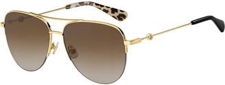 Kate Spade Maisie Stainless Steel Aviator Sunglasses, Brown