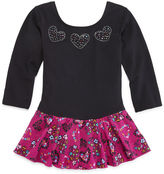 Jacques Moret Jacques Mort Long-Sleeve Cheetah Hearts Skirtall - Girls
