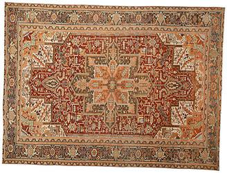"One Kings Lane Vintage Antique Persian Heriz Rug - 9' x 12'1"" - Apadana - red"