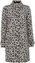 Marella FANFARA longsleeve leapord print topper coat