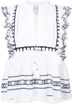 Sea tassel string frilled blouse - women - Cotton - 2