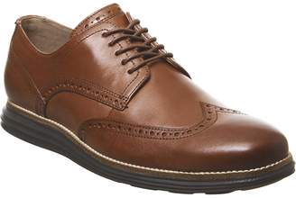 Cole Haan W Original Grand Wingtip Oxford Shoes Woodbury Leather Java