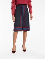Boden Edith Trim Detail Skirt, Navy