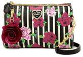 Betsey Johnson Double Zip Tassel Entry Crossbody