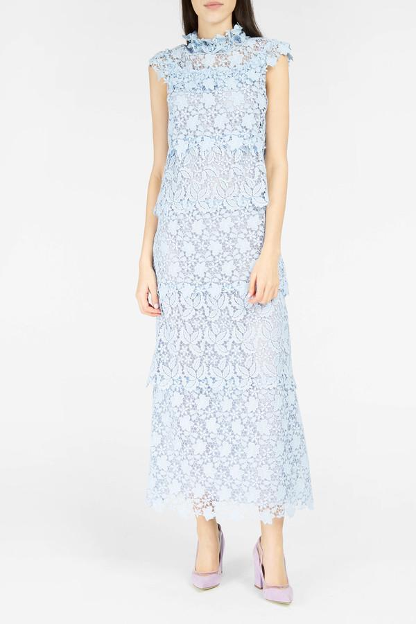 Giamba Tiered Cap-Sleeve Dress