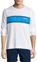 Orlebar Brown Robby Waterton Striped Long-Sleeve T-Shirt, White/Maritime/Navy
