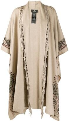 Etro Fringed Paisley Coat