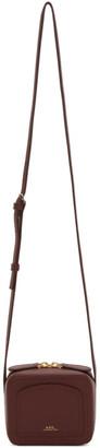 A.P.C. Burgundy Mini Louisette Bag