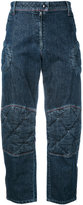 J.W.Anderson Padded knee denim trousers - women - Cotton - 8
