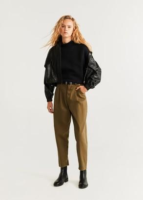 MANGO Sweatshirt folded sleeve