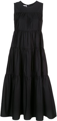 Co Gathered Flared Dress