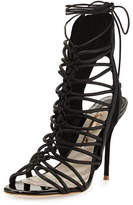 Sophia Webster Lacey Lace-Up Gladiator Sandal, Black