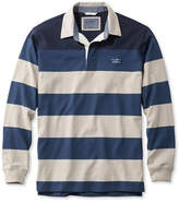 L.L. Bean Lakewashed Rugby, Traditional Fit Long-Sleeve Engineered Shoulder Stripe