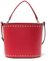 Persaman New York Emma Leather Studded Bucket Bag
