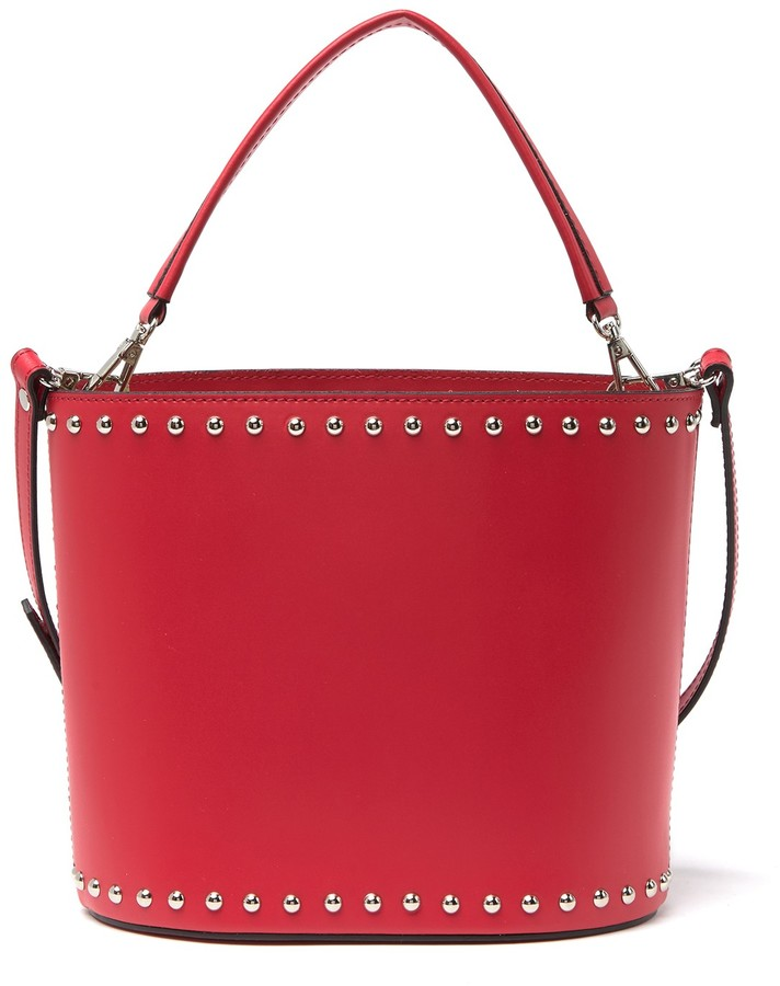 Persaman New York Emma Leather Studded Bucket Bag