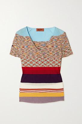 Missoni Striped Crochet-knit Cotton-blend Top