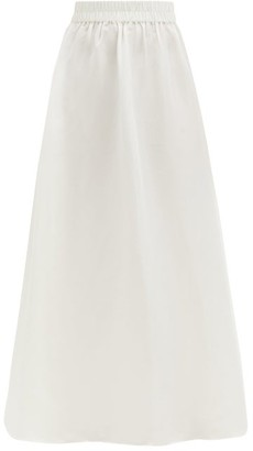 Sir - Valetta High-rise Silk-dupion Maxi Skirt - Ivory