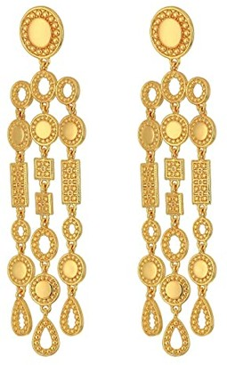 J.Crew Kiki Waterfall Earrings (Burnished Gold) Earring